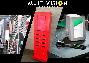 Totem Carregador de Celular - Venda e Locação,Multivision Locações