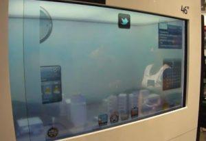 Locação e Venda de Tv Transparente, monitor touch screen, vitrine interativa,Multivision Locações