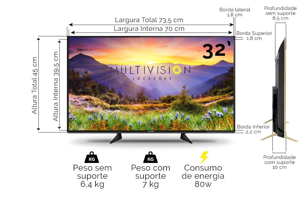 Locação TV 32 Polegadas
