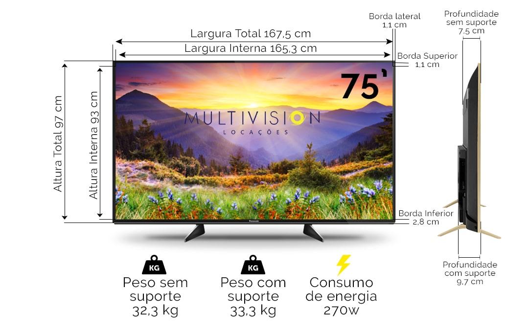 Locação TV 75 Polegadas