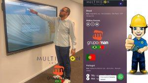 Aluguel de Tela Touchscreen - Instalação em totem ou parede.