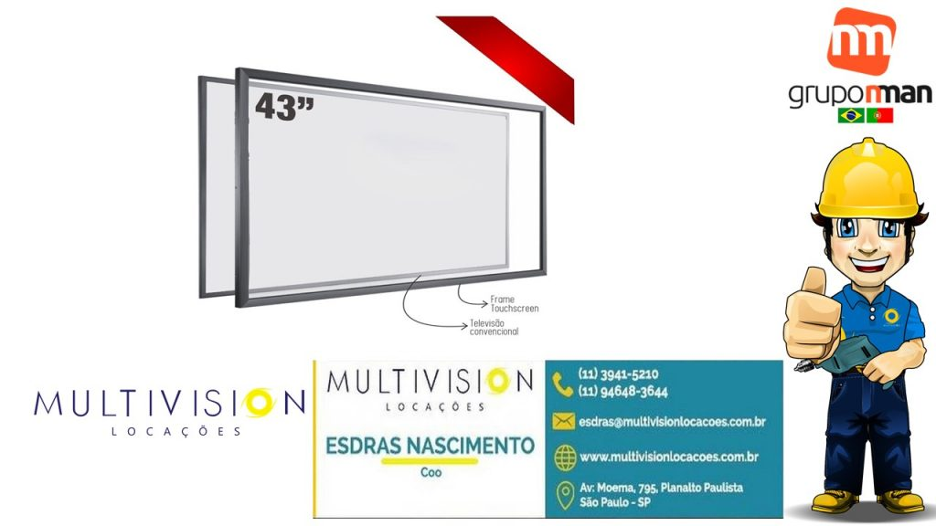"aluguel e venda Moldura Touch Screen 55"""