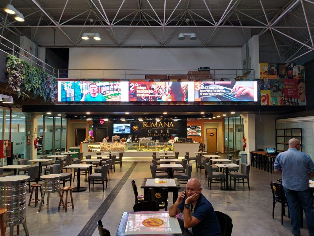 Vendas e Locações Painel LED INDOOR OUTDOOR CURVO -Projeto Ambev Jaguariúna SP-Multivision Locações
