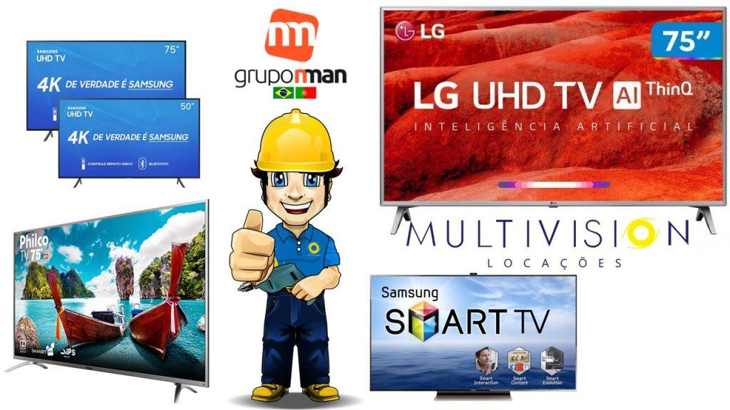 Locação de Tv para Feiras e Eventos Aluguel de TV, Aluguel de Televisão em SP Multivision Locações