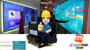 RadarTOUCH,PAINEL DE LED VIDEOWALL Multivision Locações Painéis Interativos Totem Touch Screen MESAS