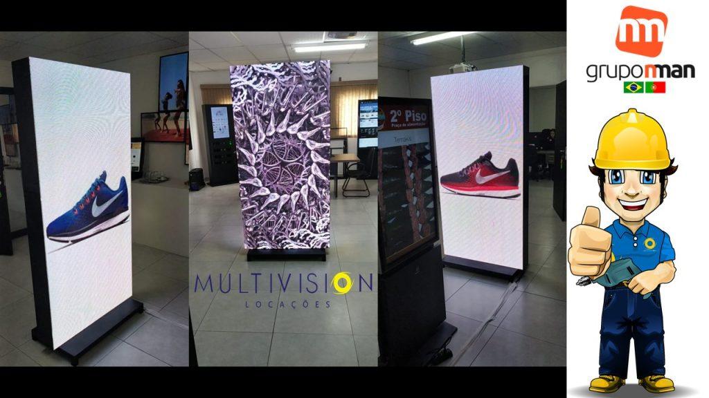 Display de LED interativo para pdv Multivision Locações