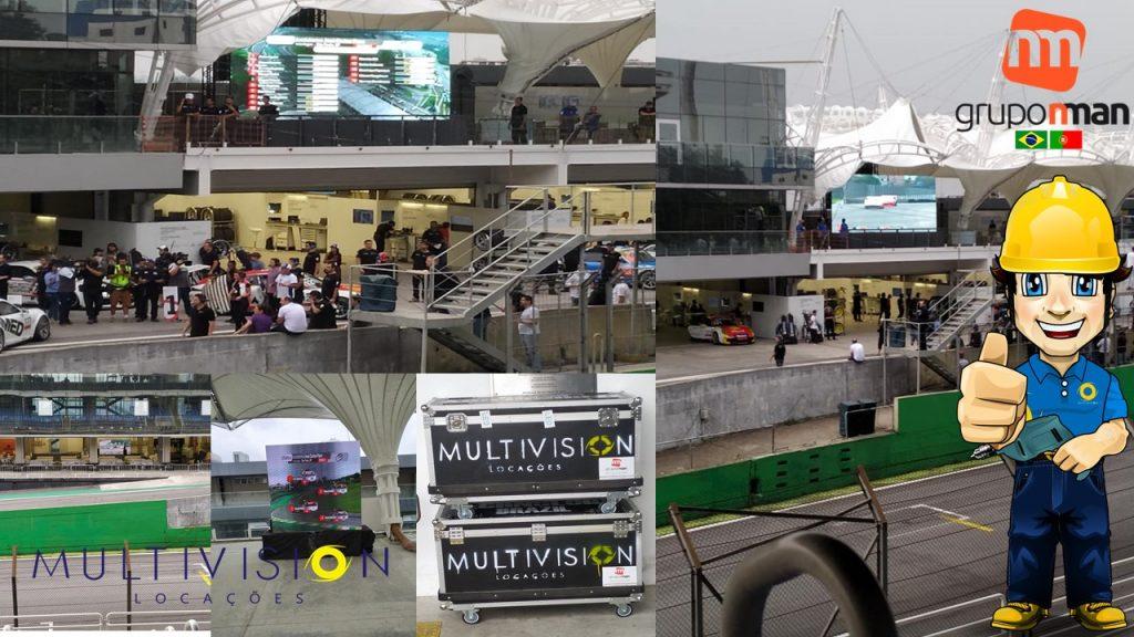 Locação de Painel de Led Autódromo de Interlagos São Paulo Porsche GT3 Cup Challenge Brasil Aluguel de Painel de LED