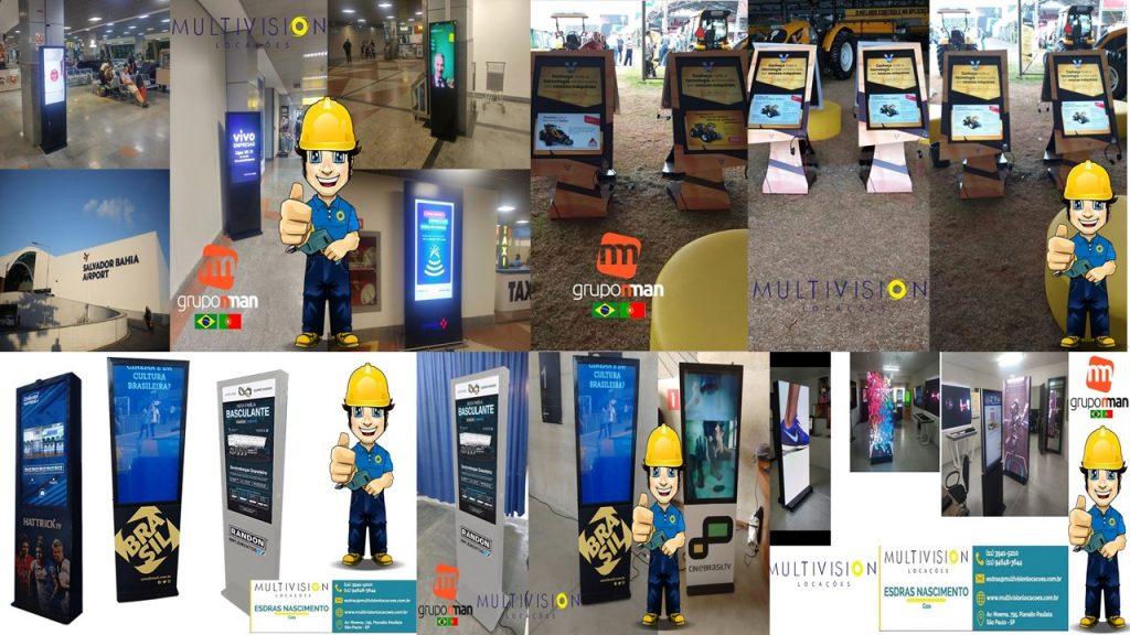 venda de telas touch screen Multivision Locações