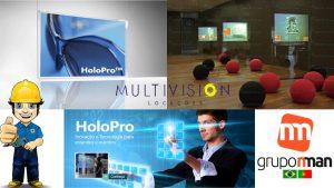 HoloPro ™ - a Tela de Projeção Holográfica Transparente