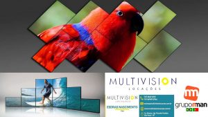 Vídeo Wall Mosaico  Video Wall de LCD Arquitetônica Multivision Locações