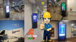 ALUGUEL E VENDA Totem Touch Screen 42″ – Locação de Video Wall – Totem Aeroporto Internacional de Salvador - Dep. Luís Eduardo Magalhães