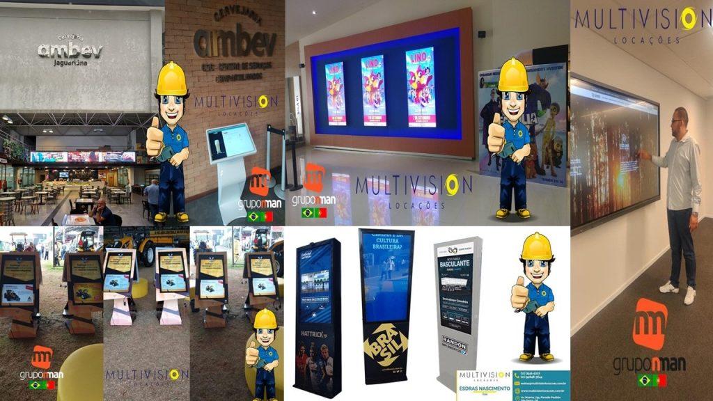 Locação de totem touch screen  são paulo aluguel de totem touch screen sp