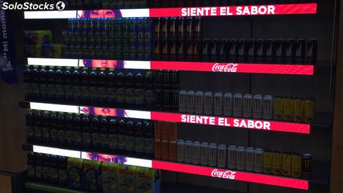 venda de Gondolas de led para Supermercados. Aluguel de Painéis de LEDs para Gondolas