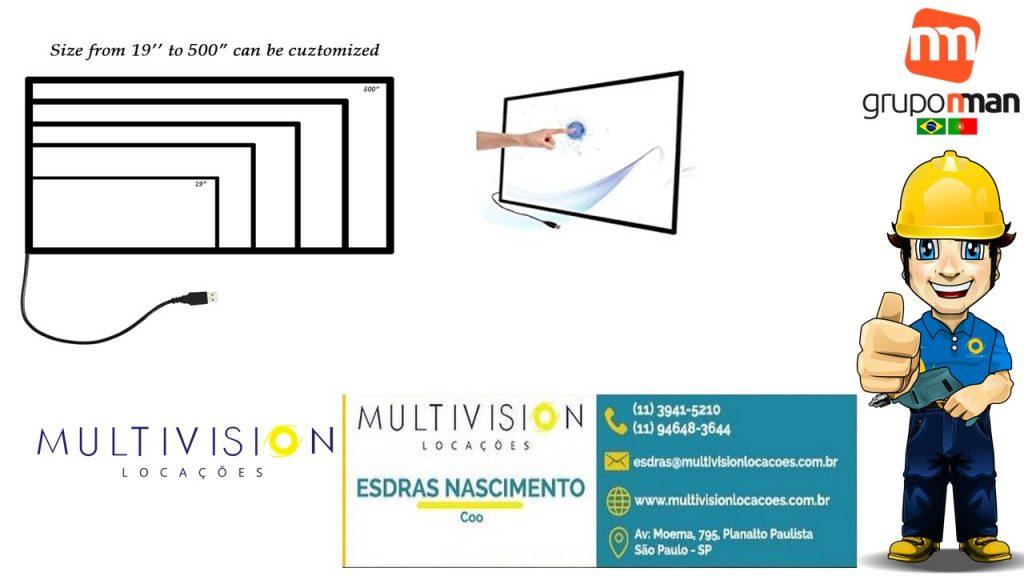 """Locação venda Moldura Touch Screen 32''43""""55''Multivision Locações"""