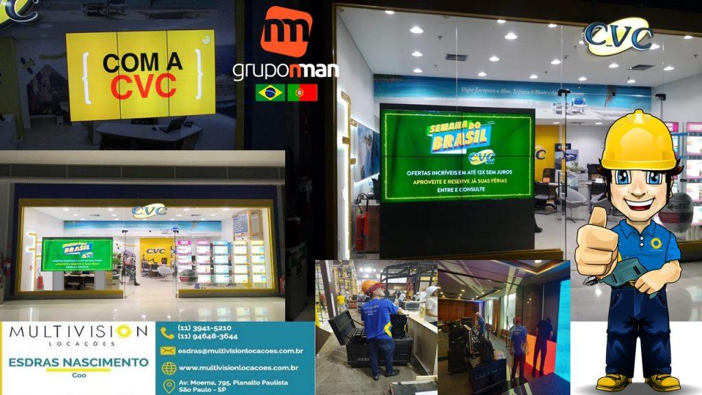 Distribuidor de painel de LED VIDEOWALL TOTEM INTERATIVO TELAS TOUCHSCREEN DO BRASIL Multivision Locações
