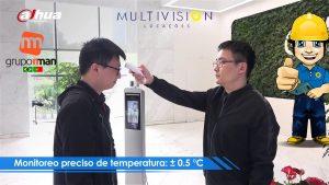 Totem Medidor de Temperatura corporal Medidas contra o Covid-19