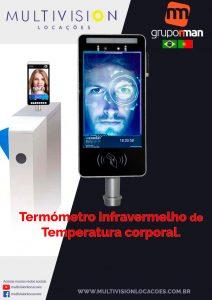 Coronavírus Câmera que detecta temperatura corporal TOTEM detecta temperatura