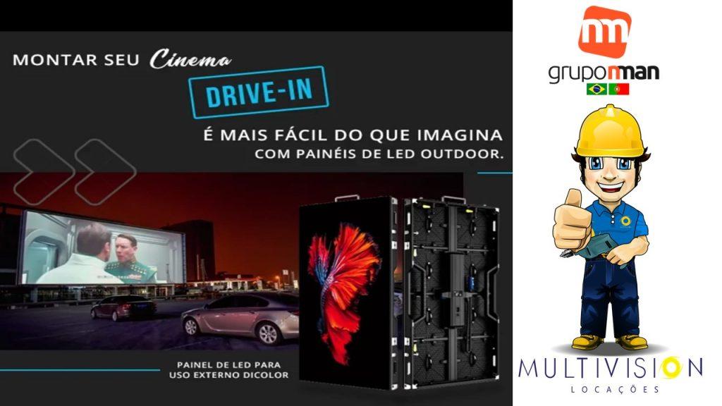 Cinema drive-in com Som e Iluminação Sistema FM cenografia Estrutura de box truss Solução Completa EM Curitiba DF