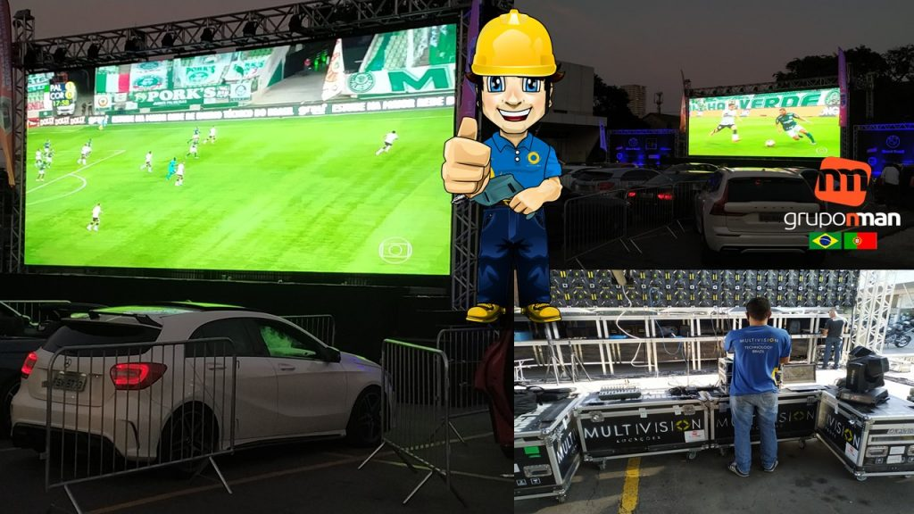 Locação de Painel de Led CINE Soccer Drive-in EVENTO FINAL Campeonato Paulista 2020 GRUPO NMAN