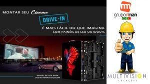 Sistema Locação de Equipamento Painel de Led som fm Cine Drive-in EVENTO BMW Multivision Locações