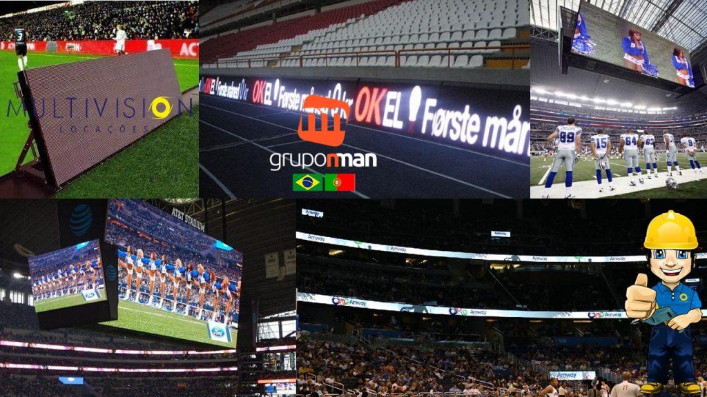 aluguel de Painel de LED para Estádios e Ginásios -Multivision Locações Painéis de LED