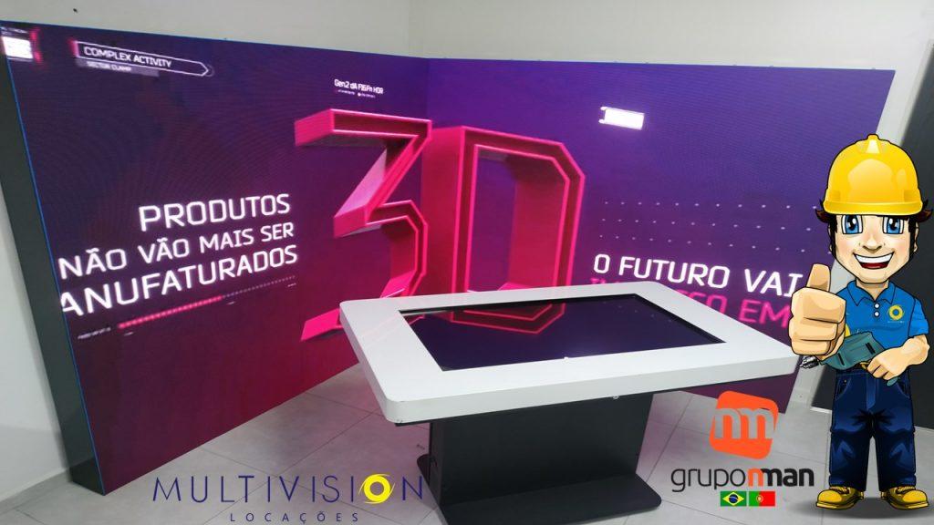 Onde Encontrar Telão Painel Led Indoor video wall São Paulo-Multivision Locações