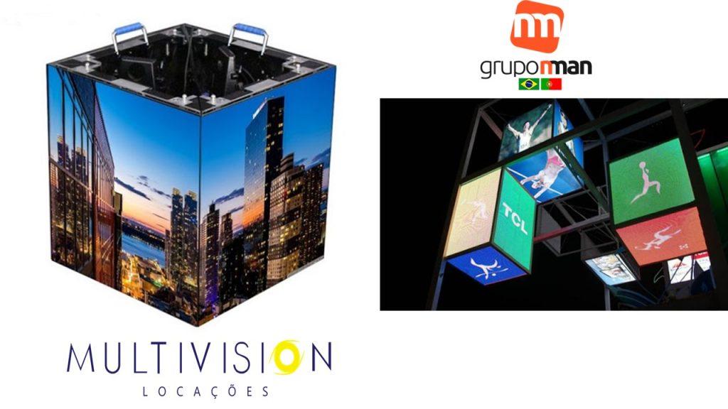 Locação de Cubo DE LED-ALUGUEL DE CUBO DE PAINEL DE LED-Multivision Locações